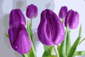 Bloemen schilderen met acrylverf technieken filmpjes en tips - Hoe om te schilderen een trap ...