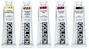 Golden acrylverf