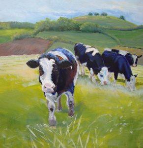 Koeien schilderen