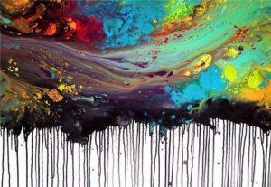 Gestueel abstract schilderij