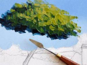Schilderen met paletmes